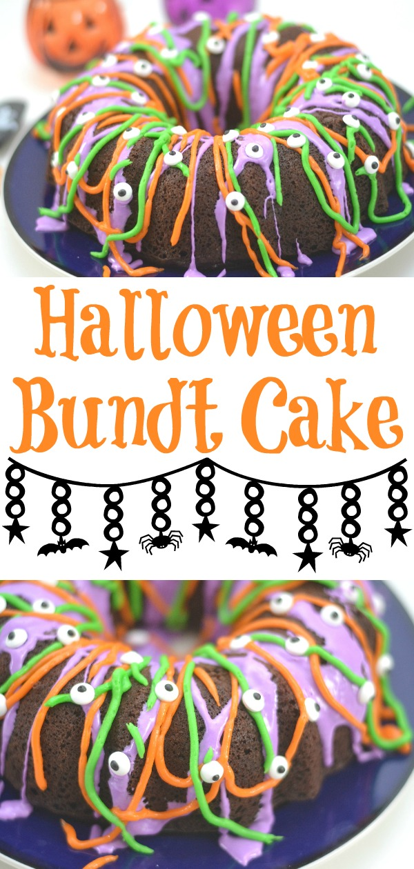 easy halloween cake, the easiest halloween cake ever, halloween desserts, halloween bundt cake, halloween cake, halloween treats, not so spooky halloween desserts, Halloween party food, fun Halloween cake