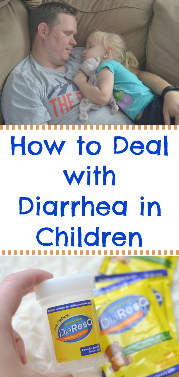 How to Deal with Diarrhea in Children using natural remedies. DiaResQ® is a natural diarrhea product that relieves diarrhea fast. #ad #DiaResQ #MomApproved #NoSickDays