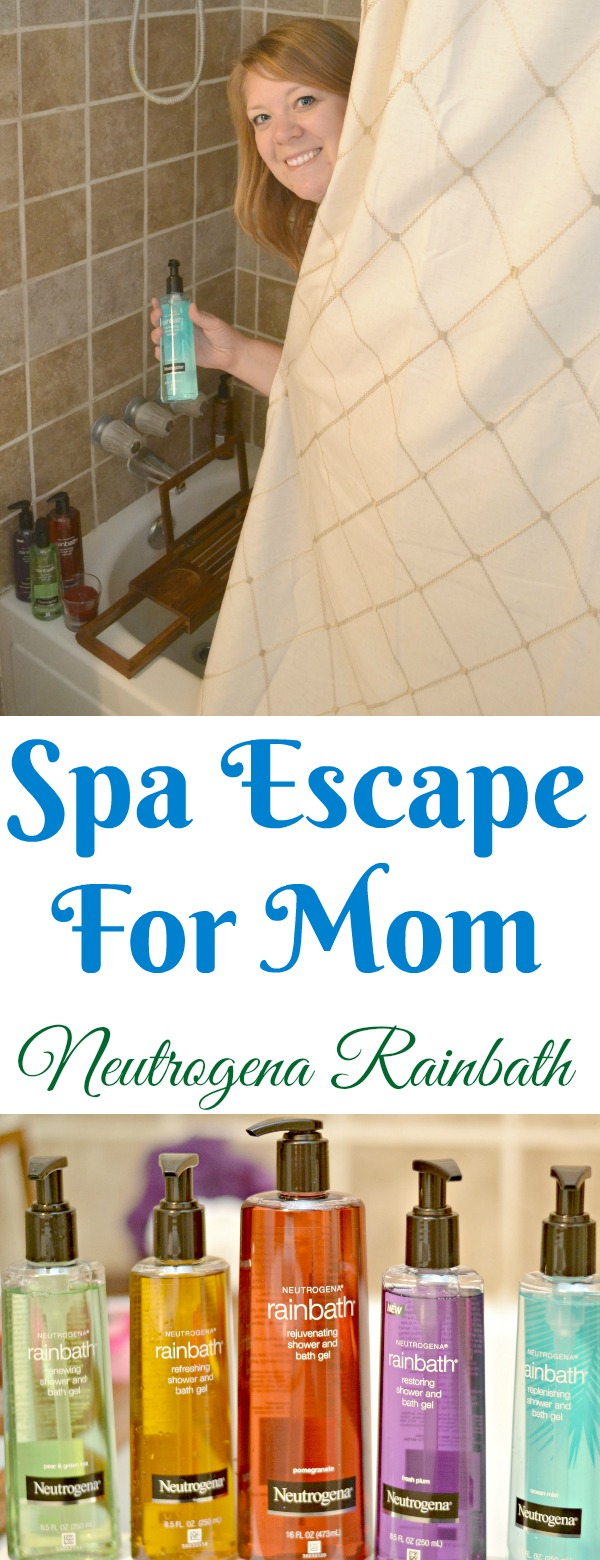 create a spa at home, spa escape for mom, neutrogena rainbath, how to create a spa at home, best bubble bath, me time relaxing, how to relax as a mom, momlife, tips on being a better mom, tips on self-care for moms, self-care tips for mom