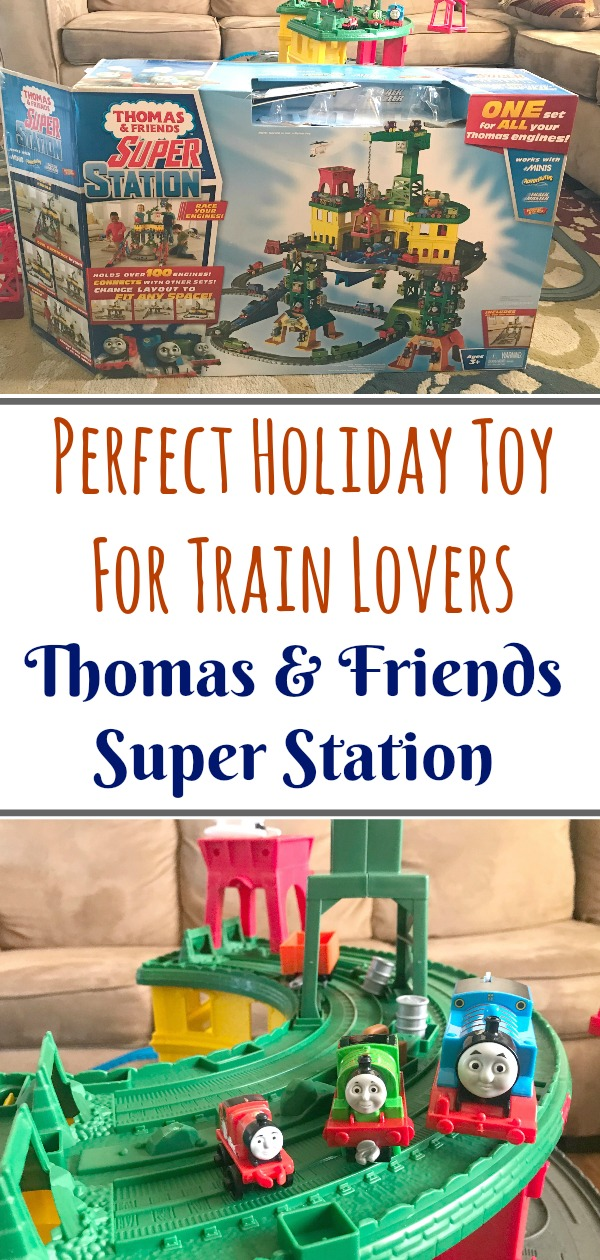 The Thomas & Friends Super Station is the perfect play set to give as a gift for a child this holiday season. It's HUGE and holds over 100 engines plus it has over 35 feet of track. Look for it at Walmart now!