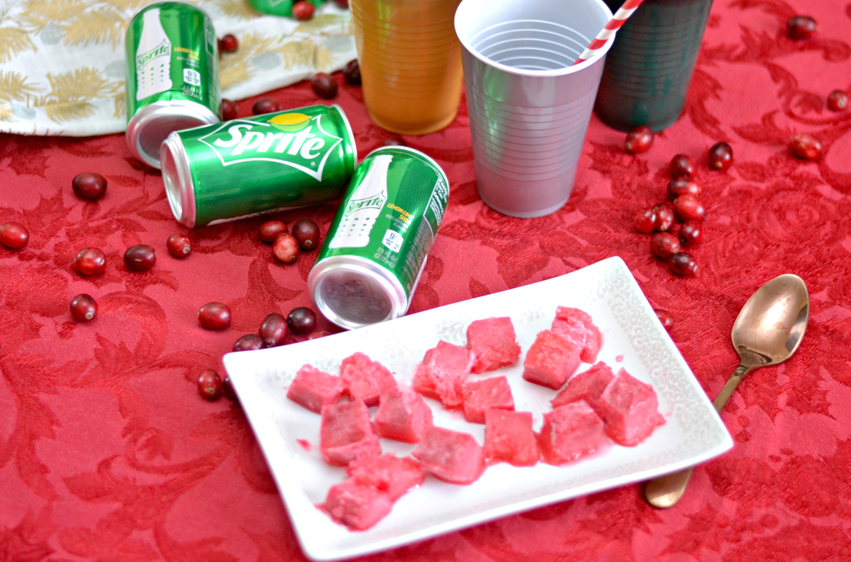 Cranberry Ice Fizzy Holiday Drink, Cranberry Ice Recipe, Cranberry Ice, Holiday drinks, cranberry holiday drinks, easy drink ideas for the holidays, winter cocktail recipes, Dress up your holiday gatherings by creating these refreshing and family tradition inspired cranberry ice fizzy drinks.  Combining a family favorite recipe into a delicious drink has our guests asking for more.