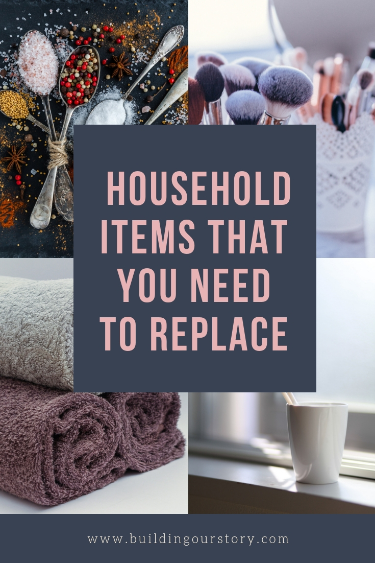 replacing these household items, household items that you need to replace, when do you replace your towels, when do you replace your toothbrush, when do you replace common household items, common household items that you should replace