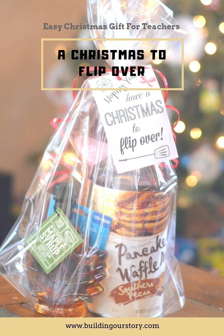 easy teacher gifts, easy christmas gifts for teachers, DIY gifts for teachers, Pancake gift basket, Easy christmas Gift idea for teachers, easy christmas gift ideas, fun printables for teachers, teacher gifts, DIY christmas gifts