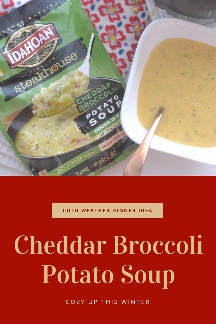 Cozy Up This Winter With Cheddar Broccoli Potato Soup, cold weather dinner ideas, cold weather dinner idea, easy soup recipe, recipes for cold weather, recipes for winter, winter soup recipes, cheddar broccoli soup recipe, potato soup recipes