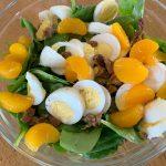 Spinach Salad + Homemade Dressing