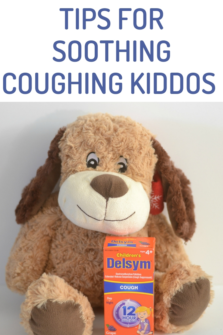 #CoughingKiddos #ad *use as directed Tips For Soothing Coughing Kiddos, tips for soothing a cough, cough remedies for kids, Tips For Soothing Coughing Kids, cough remedies, how to stop coughing, tips for sick kiddos, adding Delsym to your medication cabinet, sick days must haves