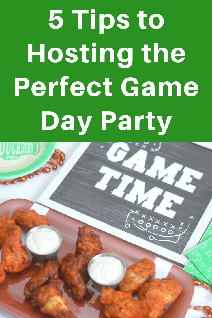 Tips to hosting the perfect game day party, game day party tips, planning a game day party, how to host an easy game day party, host a game day party, easy hot wings, hot wings for game day,