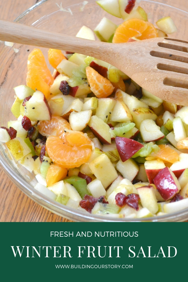 Winter Fruit Salad with Maple-Lime Dressing, winter fruit salad, fruit salad recipe, easy fruit salad, winter side dishes, winter fruit recipes, easy winter fruit salad, maple syrup fruit salad recipe, apple salad recipe