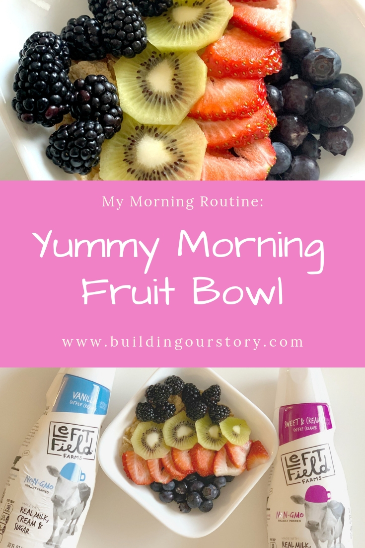 My Morning Routine with a Yummy Morning Fruit Bowl, morning fruit bowl, adding coffee creamer to recipes, recipes using coffee creamers, fruit bowl recipes, cereal and fruit recipes, morning fruit bow, fresh fruit recipes, fresh fruit for breakfast