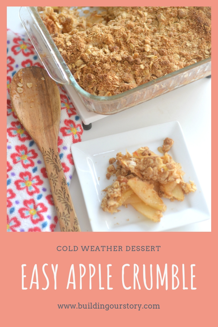 easy apple crumble, easy apple cobbler, apple crumble dessert, easy cold weather desserts, cold weather desserts, easy apple desserts, apple dessert ideas, dessert recipes using apples,
