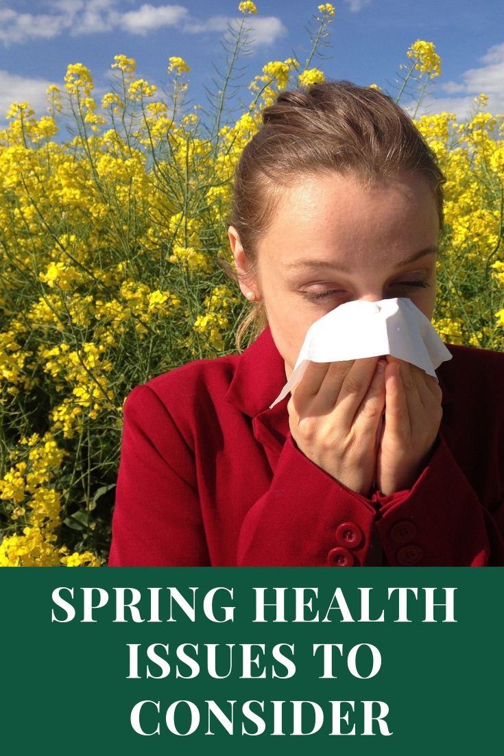 Follow these Simple Tips For Basic Health especially when spring time hits! Here are some spring health issues to consider in the coming months.
