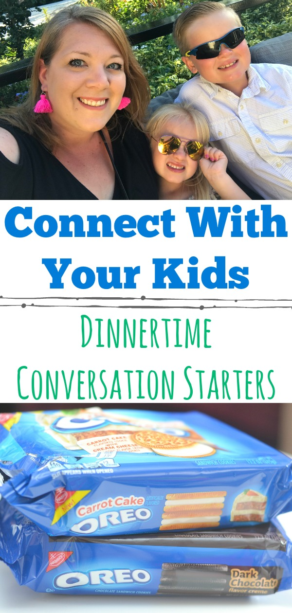 Life gets busy, be intentional with dinnertime and connect with your kids. Use the fun family dinnertime conversation starters. Free printable available. dinnertime conversation tips, dinnertime conversation starters for kids, how to get your kids to talk during dinner.