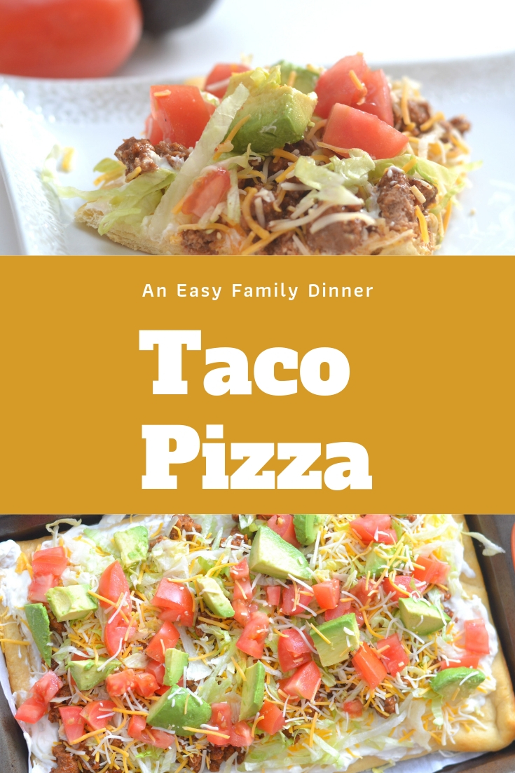 taco pizza, easy taco pizza, mexican pizza, taco pizza recipe, easy family dinner recipes, easy meals, meal time made easy, how to make taco pizza, mexican recipes for kids, kid approved dinner ideas, easy dinner recipes