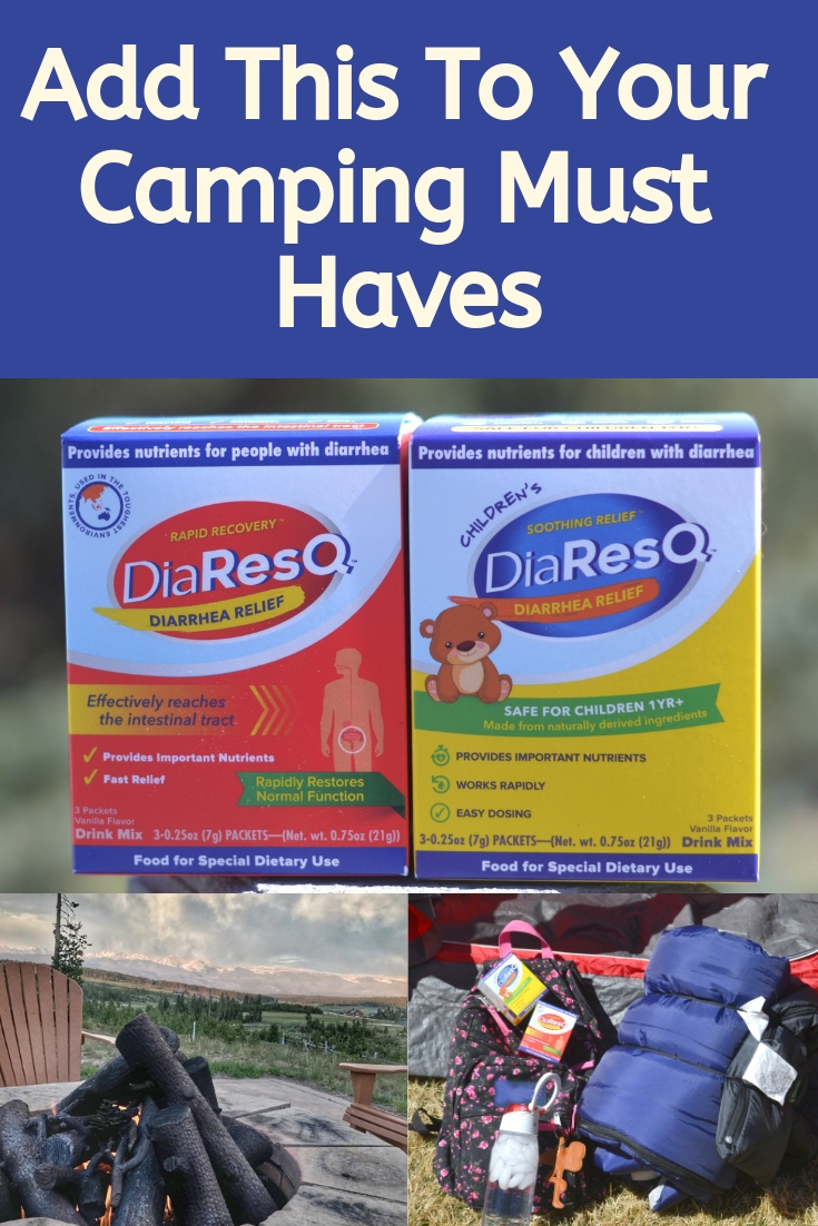 Diarrhea is not fun to deal with at home, but it is even worse when traveling. DiaResQ is a different kind of diarrhea relief that's safe for the whole family and super easy to use too! Add this to your camping must haves, packing lists for camping, packing lists for hiking. AD