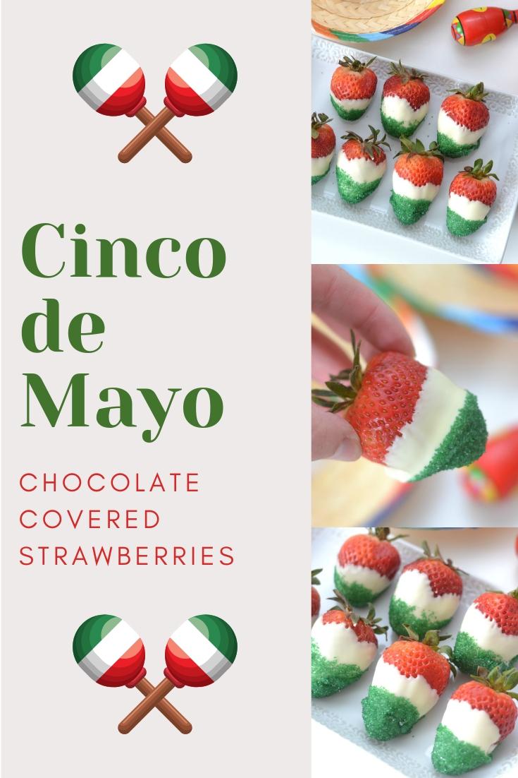 Cinco de mayo strawberries, cinco de mayo desserts, fun desserts for Cinco de Mayo, celebrating Cinco de Mayo, food ideas for Cinco de Mayo, plan a Cinco de Mayo party, easy dipped strawberries for Cinco de Mayo, Cinco de Mayo food