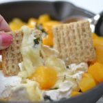 Honey, Basil & Peach Baked Brie