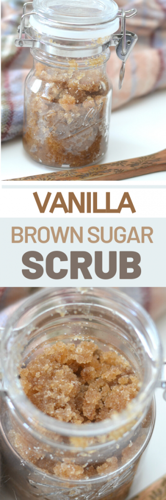 Vanilla Sugar Scrub #DIY. Vanilla brown sugar scrub, Make your own salt scrub. Make your own sugar scrub. Bath salts. DIY Body scrubs. Make your own body scrubs. Vanilla bath scrub. How to make salt scrub. How to make sugar scrub. Spring sugar scrub. Using essential oil in scrubs.
