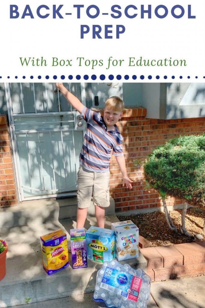 Back-To-School Prep With Box Tops for Education
