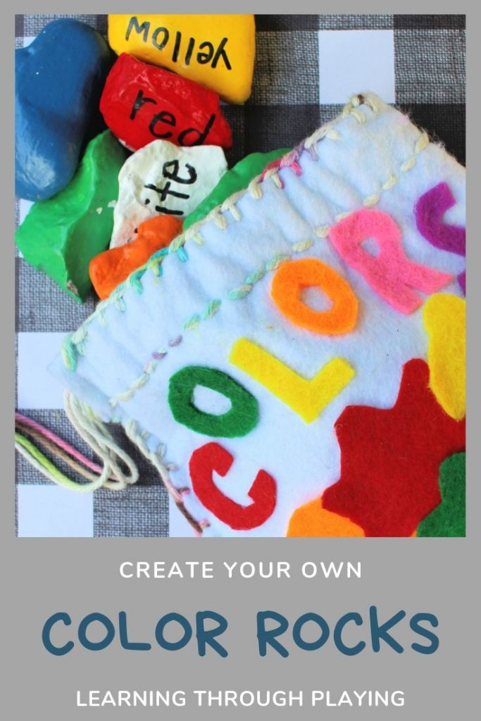 Create your own color rocks - Learning through Playing