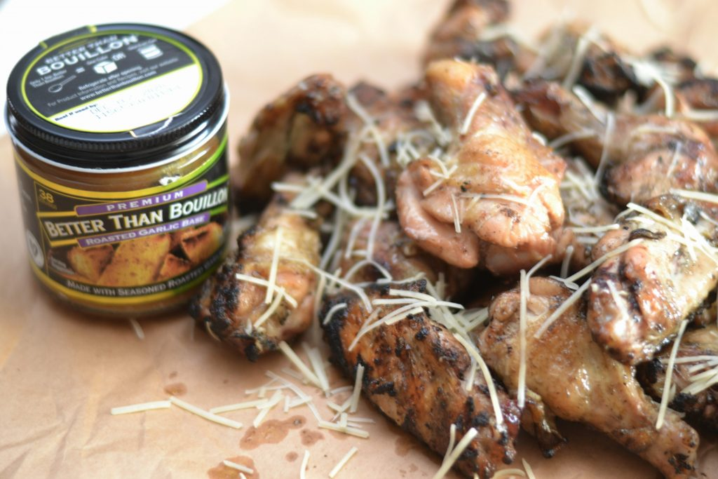 Easy Grilled Garlic Parmesan Chicken Wings