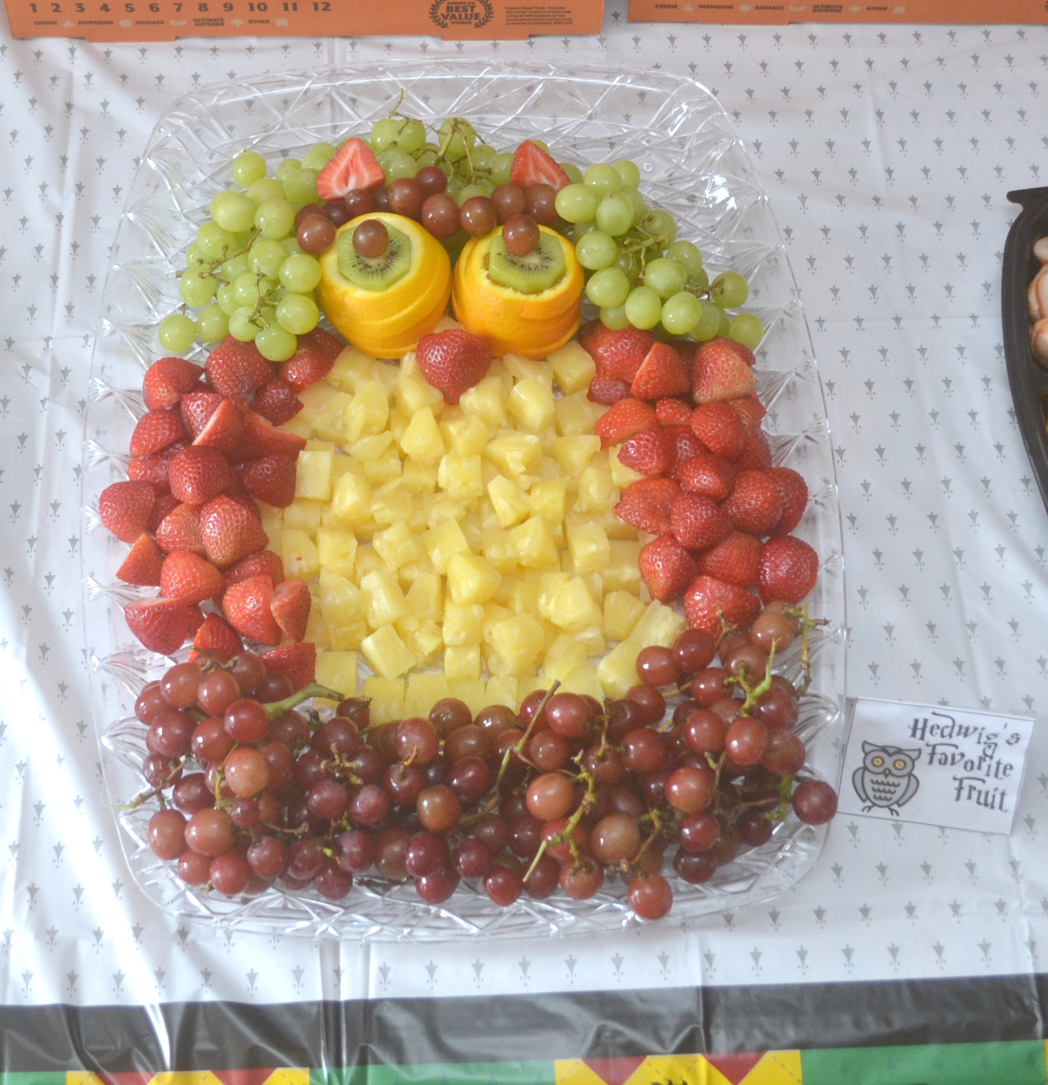 Hedwig's Favorite Fruit Tray. Harry Potter Fruit Tray