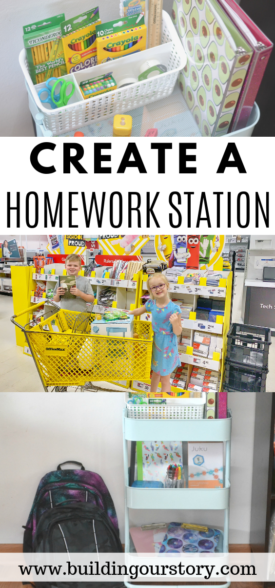 Create a Homework Station in minutes