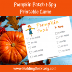 Pumpkin Patch I-Spy Printable