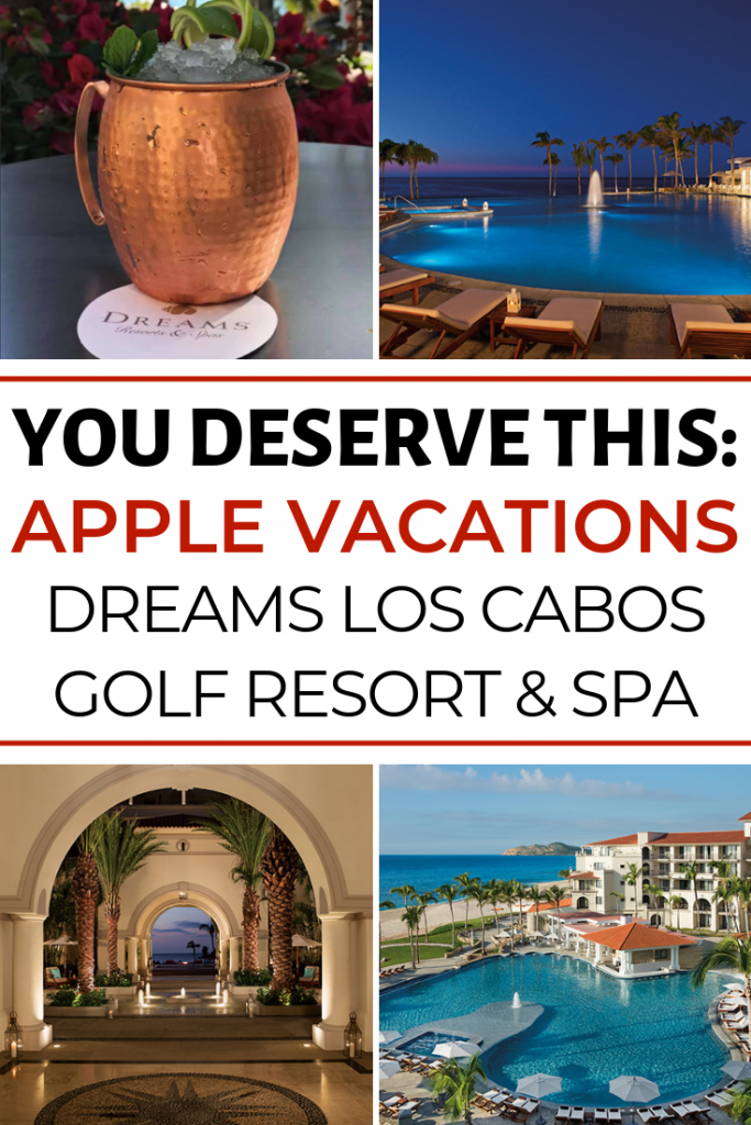 You Deserve This: Let Apple Vacations help you book an Unlimited-Luxury® Vacation at Dreams Los Cabos Suites Golf Resort & Spa.