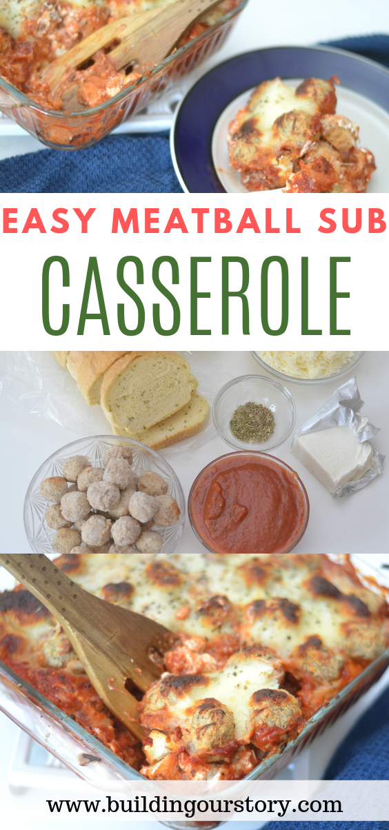 This Easy Meatball Sub Casserole is a super easy casserole dish that tastes like a meatball sub but in casserole form. So good and a family favorite!