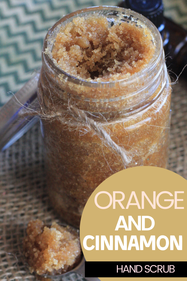 This easy to make orange and cinnamon hand scrub is the perfect scrub to keep your hands soft and moisturized year round.