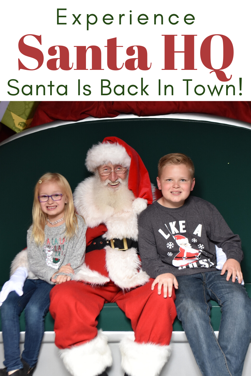Santa HQ is BACK IN TOWN! Experience Santa HQ this year! Spend less time in line. Purchase Fast Pass and pre-purchase a photo package today! #ad #SantaHQ