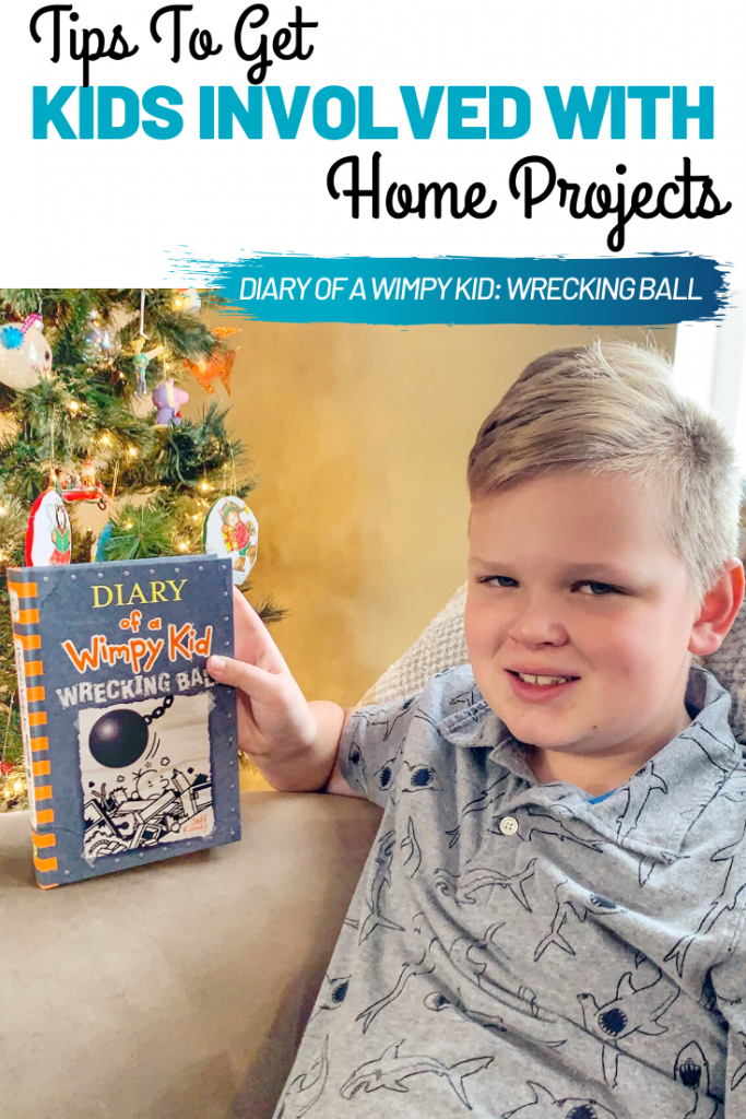 #ad #WimpyKid14 #WimpyKid #WimpyKidWreckingBall, Read Diary of a Wimpy Kid: Wrecking Ball. Tips To Get Kids Involved With Home Projects, Fun books for kids to read, Wimpy Kid #14, Wimpy Kid series