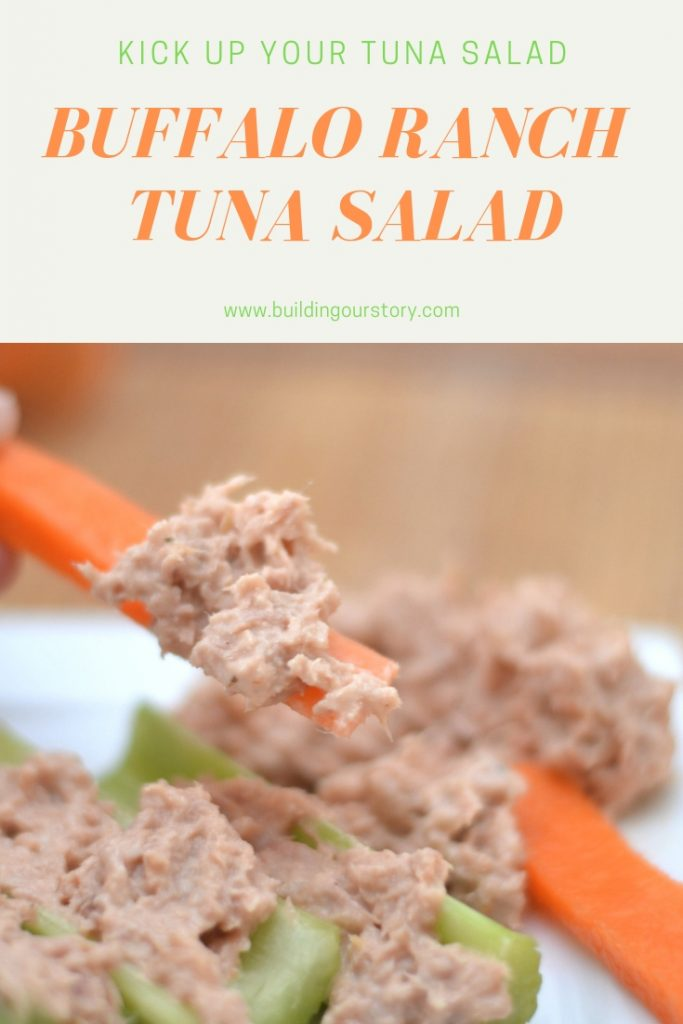 Buffalo Ranch Tuna salad recipe. Kick up your tuna salad!