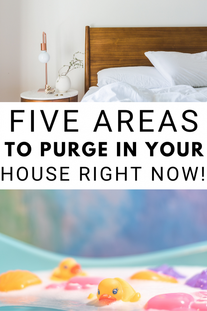 5 Areas To Purge In Your House Right Now! This is a great way to keep up with my new year goal of purging and decluttering. Areas to purge in your house.