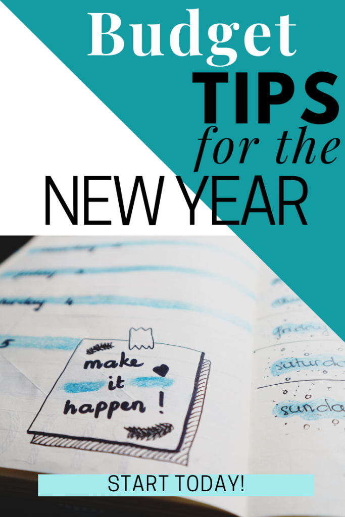 Budget Tips for the New Year.  The New Year brings lots of goals. These easy Budget Tips For The New Year can help you get that spending and debt under control.