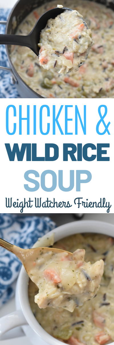 Chicken and Wild Rice Soup, weight watchers soup recipes, WW Chicken and Wild Rice Soup, Weight Watchers Chicken and Rice Soup, #weightwatchers #soup #coldweathermeals This Chicken and Wild Rice Soup is an Weight Watchers friendly version of a classic Chicken and Wild Rice recipe.