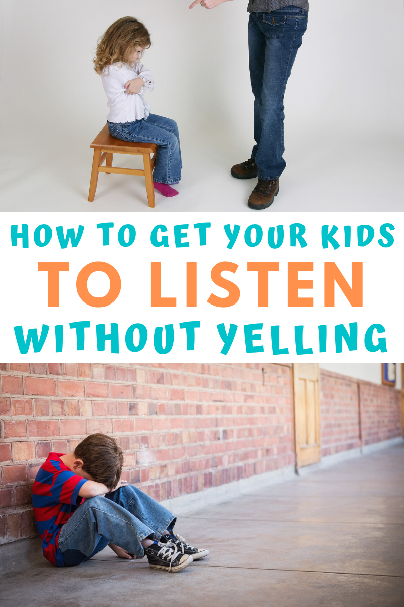 How to get your kids to listen without yelling.