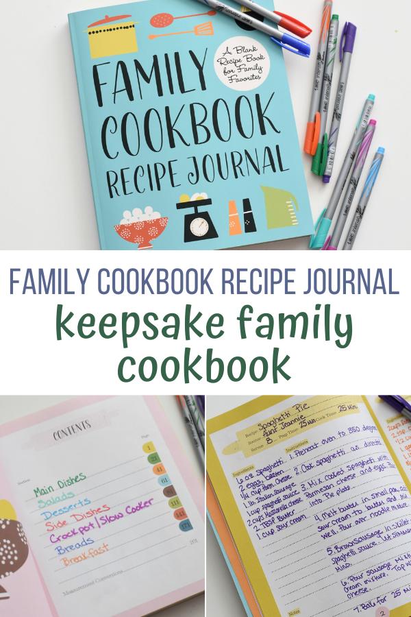 Family Cookbook Recipe Journal, creative recipe journal, creative cookbook, create a recipe journal