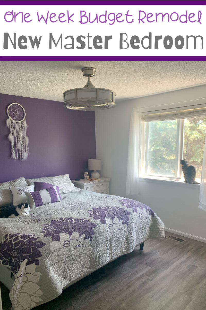 One Week Budget Remodel: New Master Bedroom. I am super excited to share this One Week Budget Remodel of my New Master Bedroom! Tips for a budget master bedroom remodel.