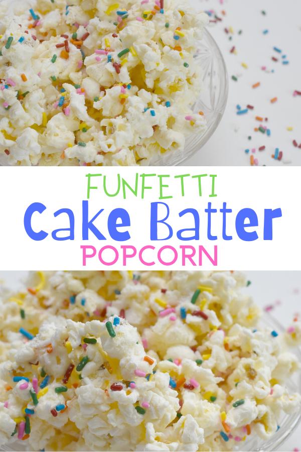 Funfetti Cake Batter Popcorn, cake batter popcorn recipe, cake batter popcorn, sweet popcorn recipe idea, sweet popcorn, easy popcorn recipes, popcorn recipes, popcorn