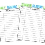 Summer Reading Log - FREE Printable
