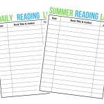 Summer Reading Log - FREE Printable