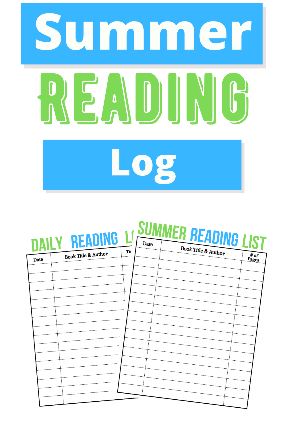 Create some motivation for summer reading with this Printable Summer Reading Log and Summer Reading List. Printable Summer Reading Log , free Printable Summer Reading Log , free reading log printable