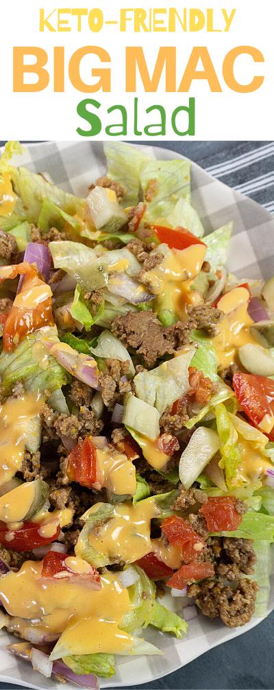 How To Make A Big Mac Salad, Big Mac Salad, Big Mac Salad recipe, Big Mac Salad Keto Friendly, Keto Friendly salad recipes, Keto salad recipes, Keto Big Mac Salad, Keto Friendly Big Mac Salad,