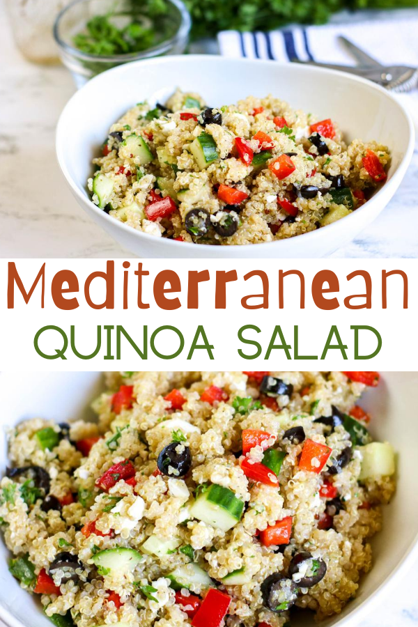 Mediterranean Quinoa Salad.  Recipes using Quinoa.  How to prepare Quinoa. Quinoa salad.  Mediterranean recipes.  Easy side salads. Quinoa recipes.  Quinoa Salad recipes.