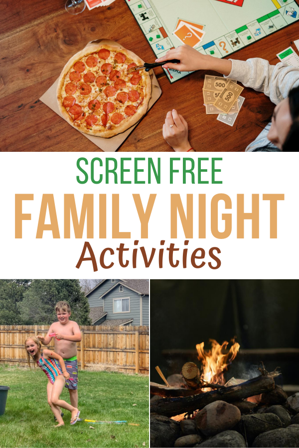 Screen Free Activities For Family Night. Screen free family night activities. screen free activities. Family activities. Game night for families.