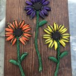 Bottle Cap Flower Wall Art