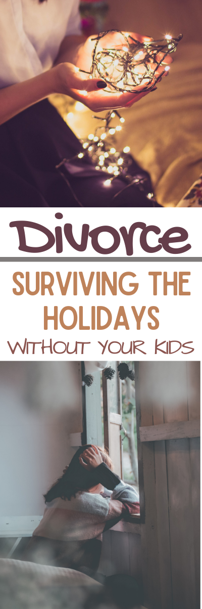Divorce and Surviving The Holidays Without Your Kids. The holidays can be an emotional, stressful, and lonely for a divorced parent. Divorce. Divorce recovery. Surviving the holidays without your kids.  what to do if you don't have your kids for the holidays.