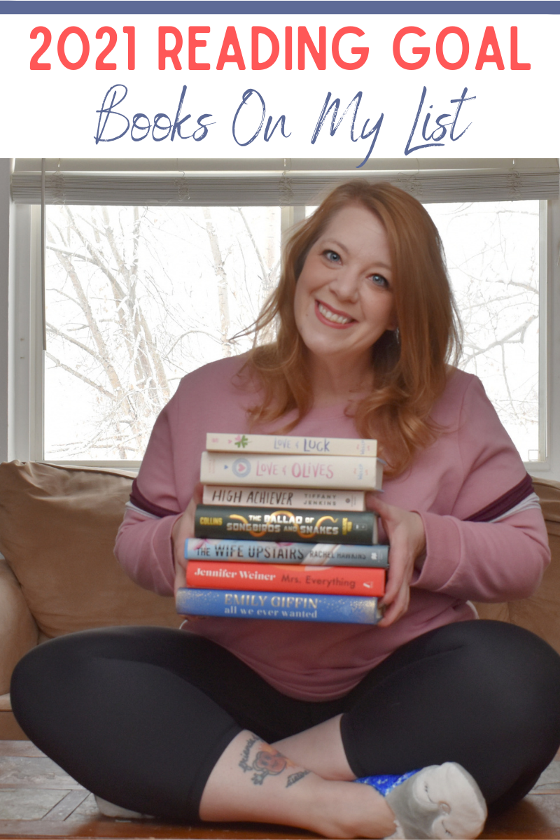 New Reading Goal - Books On My List. Setting a reading goal. How to stay motivated to read. My new reading goal. Books to read. What books to read in 2021. Should I set a reading goal? Book reviews. Reading goals.