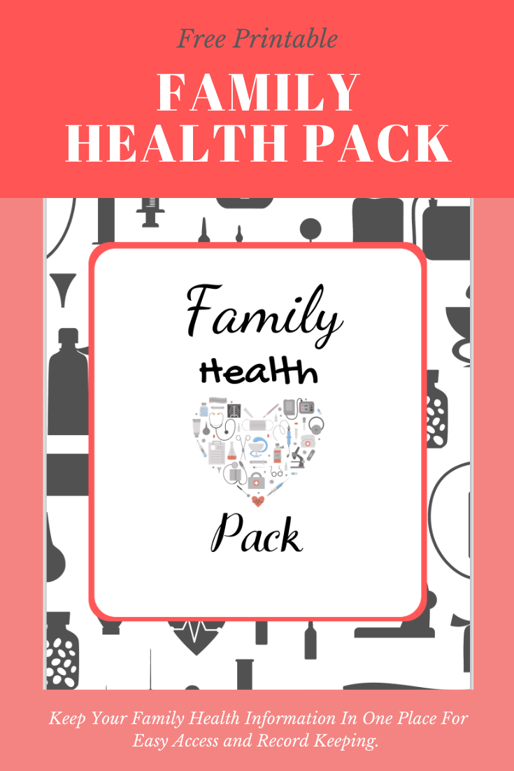 Create a Family Health Notebook - Free Printable Family Health Pack. Keep your family health information in one place for easy access & record keeping. Free printable family health pack to create family health notebook.